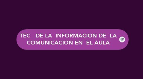 Mind Map: TEC   DE LA  INFORMACION DE  LA COMUNICACION EN  EL AULA