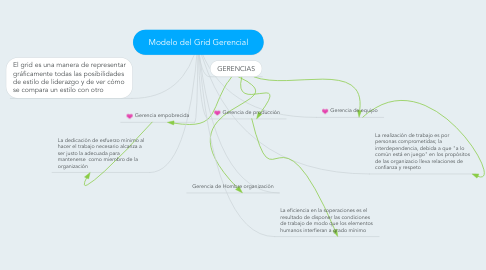 Mind Map: Modelo del Grid Gerencial