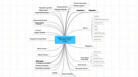 Mind Map: Bobby Hertensteiner's Mind Map Vocab Project
