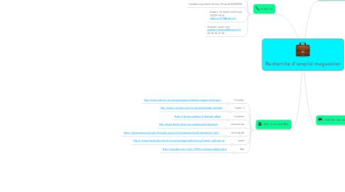 Mind Map: Recherche d'emploi magasinier