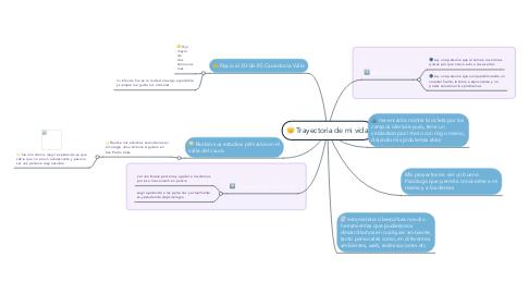 Mind Map: Trayectoria de mi vida