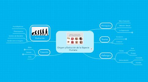 Mind Map: Origen y Evolución de la Especie Humana