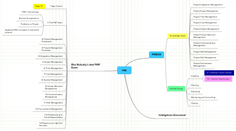 Mind Map: PMI