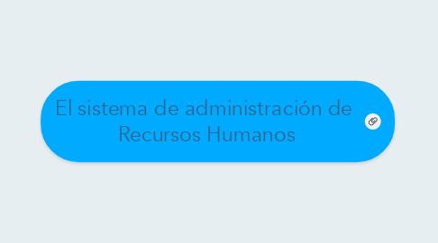 el sistema de administración de recursos humanos 例 mindmeister