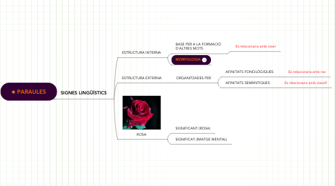 Mind Map: PARAULES