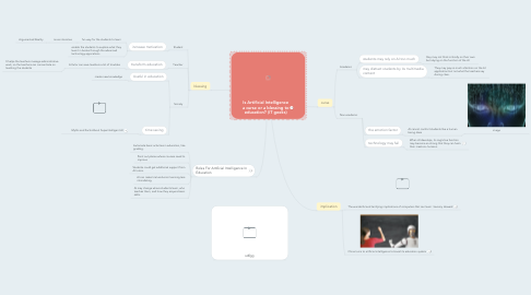 Mind Map: Is Artificial Intelligence a curse or a blessing to education? (IT geeks)