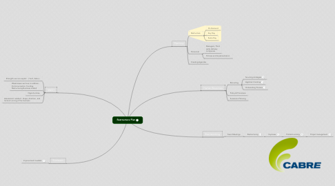 Mind Map: Restructure Plan