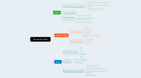 Mind Map: You and Your Team