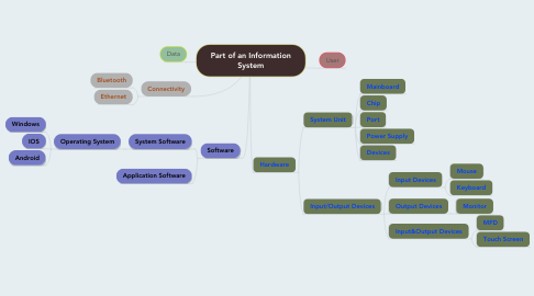 Mind Map: Part of an Information System