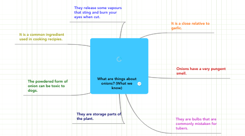 Mind Map: What are things about onions? (What we know)