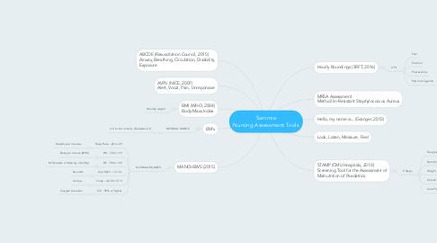 Mind Map: Sammie Nursing Assessment Tools