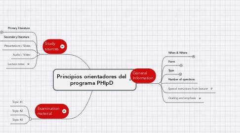 Mind Map: Principios orientadores del programa PHIpD
