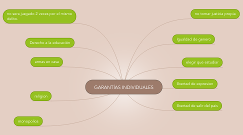 Mind Map: GARANTÍAS INDIVIDUALES