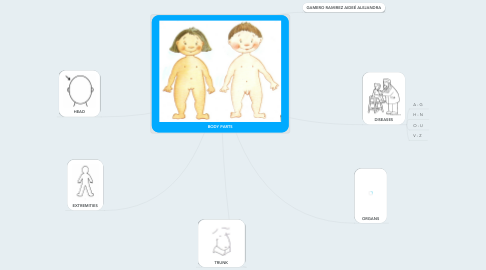 Mind Map: BODY PARTS