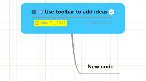 Mind Map: Use toolbar to add ideas