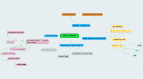 Mind Map: MEDIO AMBIENTE