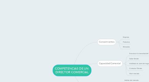Mind Map: COMPETENCIAS DE UN  DIRECTOR COMERCIAL