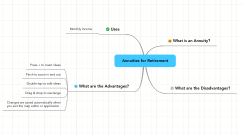 Mind Map: Annuities for Retirement