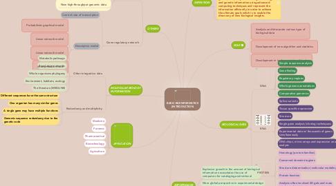 Mind Map: BASIC BIOINFORMATICS (INTRODUCTION