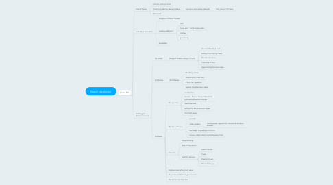 Mind Map: french revolution