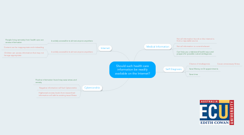 Mind Map: Should such health care information be readily available on the Internet?