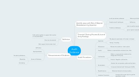 Mind Map: Audit Evidence
