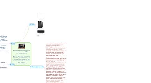 Mind Map: Персональный компьютер-ПК  мини – или микроЭВМ индивидуального пользования, ориентированная на решение задач как специалистами, так и неспециалистами в области вычислительной техники (в частности, в программировании).