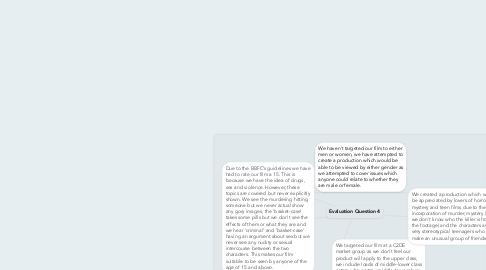 Mind Map: Evaluation Question 4