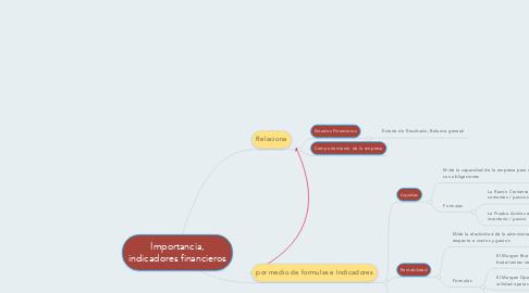 Mind Map: Importancia, indicadores financieros