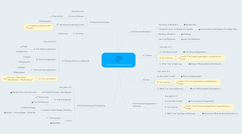Mind Map: 4. Production: Process Structure