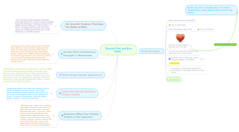 "Mind Map: ""Beyond Pink and Blue Walls"""