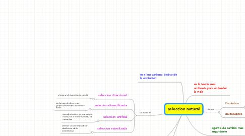 Mind Map: seleccion natural