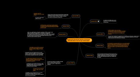 Mind Map: Respecter les droits de l'homme, les normes internationales et les lois qui en découlent