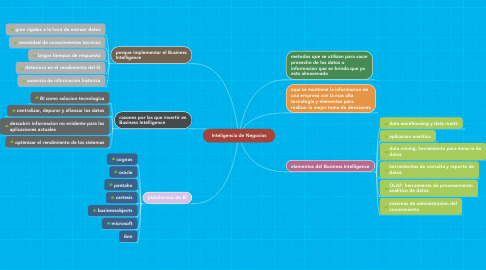 Mind Map: Inteligencia de Negocios