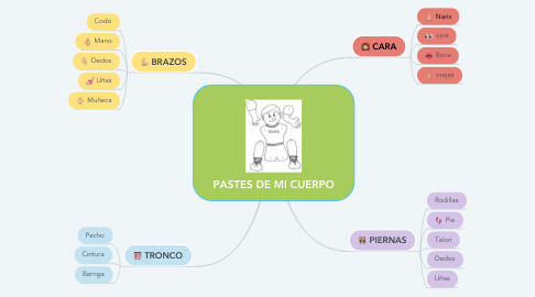 Mind Map: PASTES DE MI CUERPO
