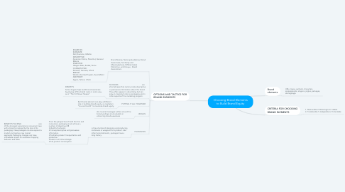 Mind Map: Choosing Brand Elements to Build Brand Equity