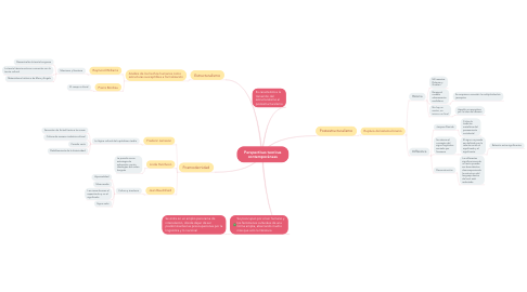 Mind Map: Perspectivas teoricas contemporáneas