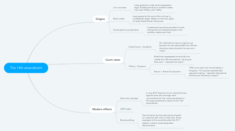 Mind Map: The 14th amendment