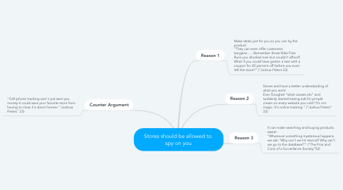 Mind Map: Stores should be allowed to  spy on you
