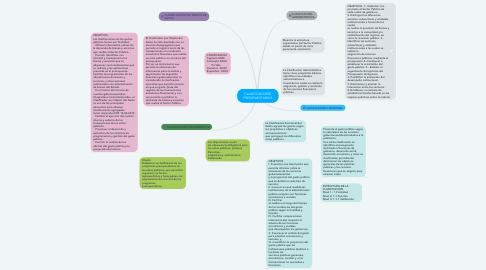Mind Map: CLASIFICADORES PRESUPUESTARIOS