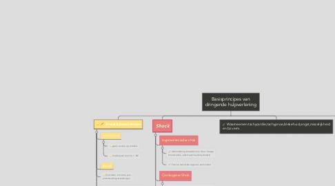 Mind Map: Basisprincipes van dringende hulpverlening