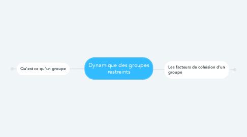 Mind Map: Dynamique des groupes restreints