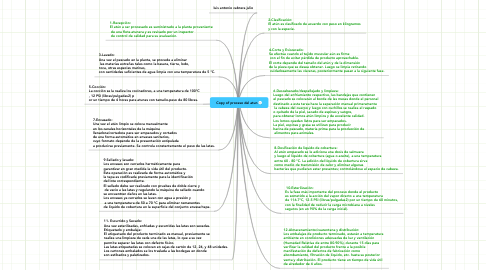 Mind Map: Copy of proceso del atun
