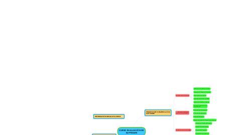 Mind Map: CURSO EVALUACIÓN DESOFTWARE