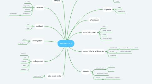 Mind Map: Internet a já