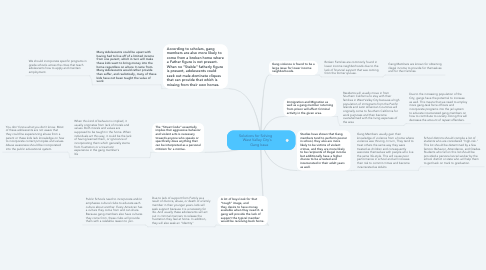 Mind Map: Solutions for Solving                 West Valley City's              Gang Issue