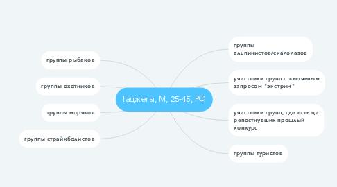 Mind Map: Гаджеты, М, 25-45, РФ