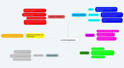 Mind Map: Le mie competenze