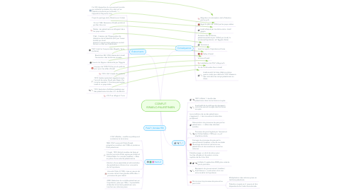 Mind Map: CONFLIT ISRAELO-PALESTINIEN