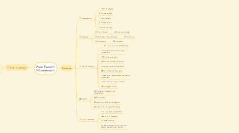 Mind Map: Agile Product Management